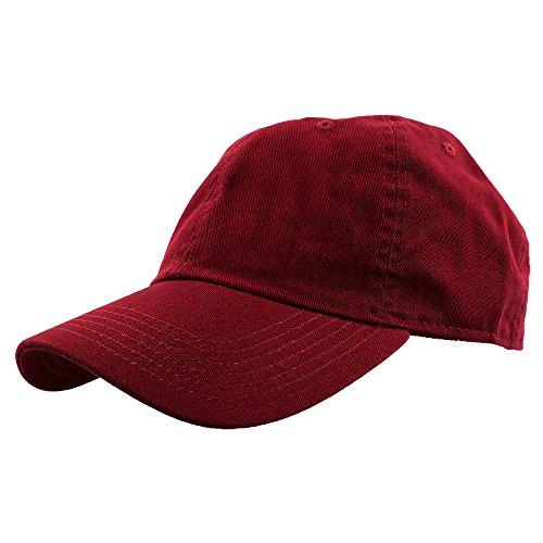 Cotton Ball Cap - Gelante Baseball Caps Dad Hats 100% Cotton Polo Style Plain Blank Adjustable Size. 1822-Wine