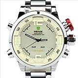 Men's Military Watches Sports Dual Time Dial LED Digital Quartz Alarm Wristwatches Brand Hot Sale Gokelly