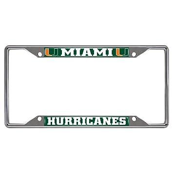 Amazon com : Fan Mats Miami Hurricanes Ncaa Chrome License