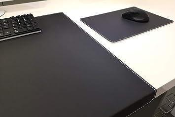 glatt Leder braun oder schwarz Schreibunterlage Echt Schreibtischauflage