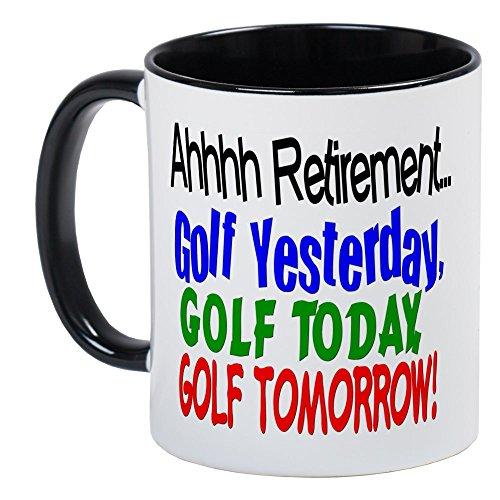 CafePress Ahhh Retirement Golf Mug Unique Coffee Mug, Coffee Cup