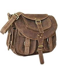 Real BUFFALO Leather Women Laptop Shoulder Crossbody Bag Vintage INDIANA JONES messenger Satchel handbag