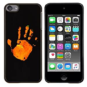 - stop orange black minimalistic - - Modelo de la piel protectora de la cubierta del caso FOR Apple iPod Touch 6 6th Generation RetroCandy
