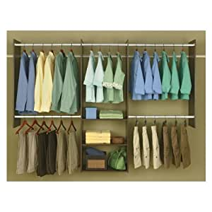 Easy Track RB1460-T Deluxe Starter Closet, 4 To 8 Foot, Truffle