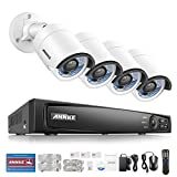 Annke 1080P Professional POE NVR Video Security System and (4) 2.0MP CCTV Network/IP Cameras with IR-cut Night Vision, No Hard Drive Included