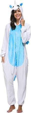 Pijamas Animal Unicornio Carnaval Disfraz Traje Cosplay Adulto Ropa de Dormir Homewear Halloween y Navidad