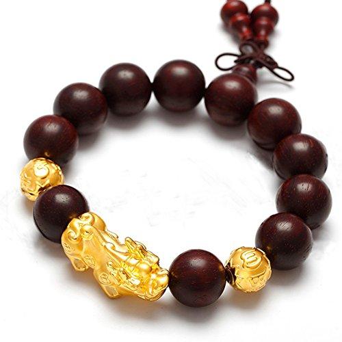 Lobular rosewood Gold Bracelet/ jewelry/ red sandalwood prayer beads bracelets