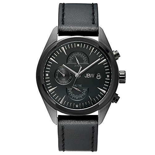 JBW Men's J6300E The Woodall Analog Display Swiss Quartz Black Watch