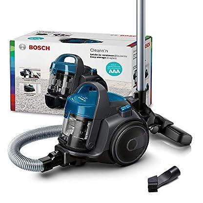 Bosch BGC05A220A Clean´n beutelloser Bodenstaubsauger (platzsparend, einfaches Entleeren, sehr leicht, 700 Watt) grau 2