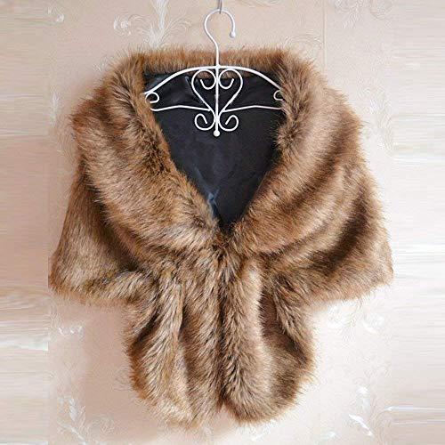 Sposa Cappotti Donna Sciarpa Cardigan Bianca Sintetica Allentato Cappotto Pelliccia Da Invernale Shrug Giacca Wrap Stola Lunga Outwear XXqxrd