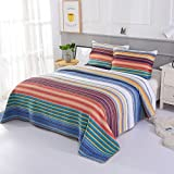 Cozyholy 3-Pieces Queen/King Bed Quilts Set Quilted Coverlet Origenal Design Pathwork Bedspreads 100% Cotton Bed Cover (Vintage, 230x250cm)