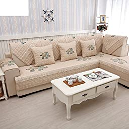 cotton sofa cushions/The style of simple modern thickened seasons slip sofa towel/ living room sofa towel-A 70x210cm(28x83inch)