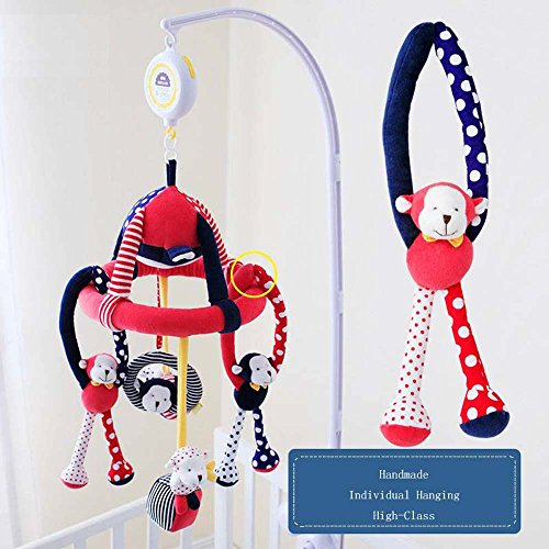 SHILOH Baby Crib Decoration 60 tunes Lullabies Plush Musical Mobile (Naughty Monkey) by SHILOH (Image #2)