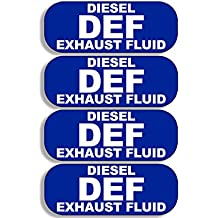 4 Pack DEF Diesel Exhaust Fluid Stickers (bio small truck usa)