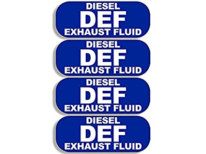 American Vinyl 4 Pack DEF Diesel Exhaust Fluid Stickers (bio Small Truck  USA)