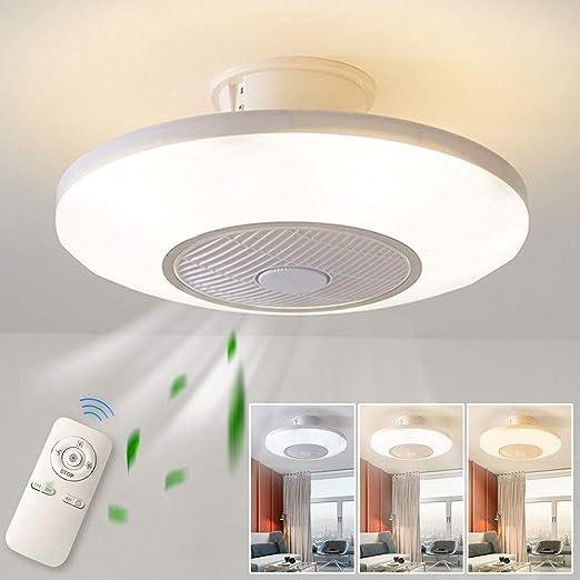 Luz del ventilador de techo,moderna LED Ventilador de techo ...