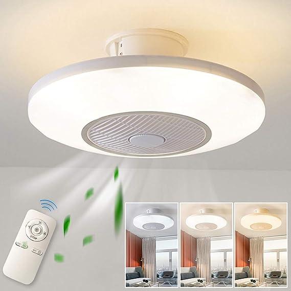 Luz del ventilador de techo,moderna LED Ventilador de techo Lámpara de techo con luz Y mando a distancia ventilador ...