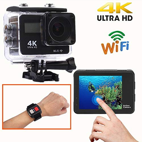 LoMe Diving Camera, 16 Million Pixels 4K Action Camera Waterproof 30M Video Cam 16MP WiFi 170°Wide Angle Sports Underwater Cameras