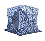 DANCHEL 4-Person Waterproof Insulated Pop-up Ice Fishing Shelter Tent With Ventilation Windows