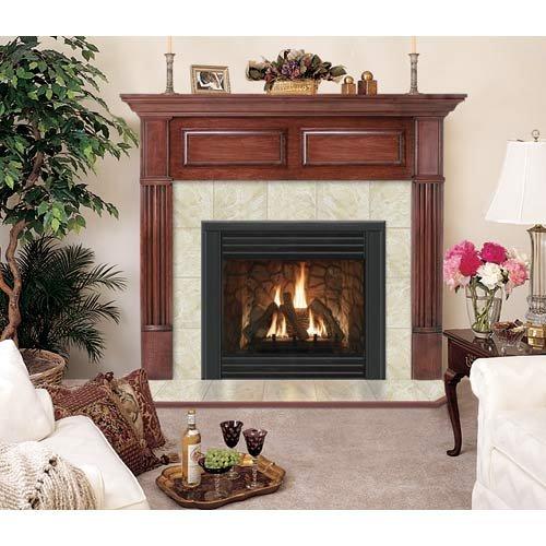 - Hearth and Home Mantels Geneva Flush Fireplace Mantel in Mahogany Finish (Traditional Mahogany 40 in. x 48 in.)