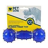 Pet Zone Rubber Dog Treat Dumbbell Toy , Large