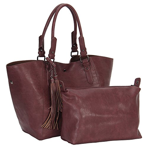 Fabric Handbags Totes Purses Wallets (ShowRoom16 Leather Totes Matching Wallet Satchel Shoulder Bag)