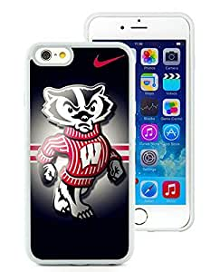 iPhone 6 Case,Wisconsin Badgers 02 White For iPhone 6(4.7) Case WANGJING JINDA
