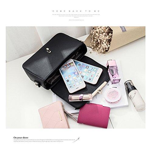 Yoome Lichee Pattern Tote Purse per le donne Borse eleganti Borse mini per ragazze Charm Luxury Bag - Nero