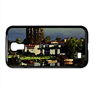 lintao diy Canal Cotage Watercolor style Cover Samsung Galaxy S4 I9500 Case (Landscape Watercolor style Cover Samsung Galaxy S4 I9500 Case)