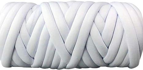 Ovillo de hilo de algodón de 1,90 kg, hilo grueso vegano, hilo gigante trenzado de algodón grueso, hilo grueso trenzado, hilo para hacer manualidades, manta, alfombra, cueva de gato, material de alfombra: