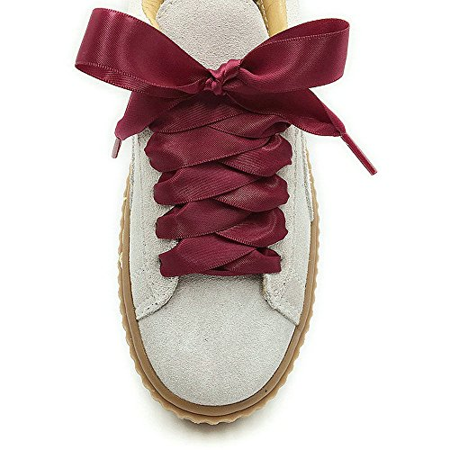 (Wine Red Satin Ribbon Shoelaces Oxblood Bootlaces Cute Corses Stripes Shoe Laces Boho Hobo Riband Shoestrings Sexy Striped Shoelaces )