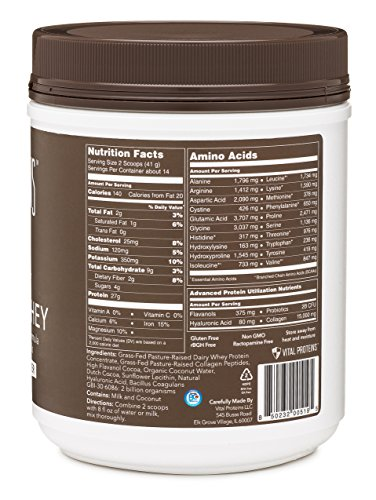 Vital Proteins Pasture-Raised, Grass-Fed Collagen Whey (Cocoa Coconut), 20.2 oz Canister