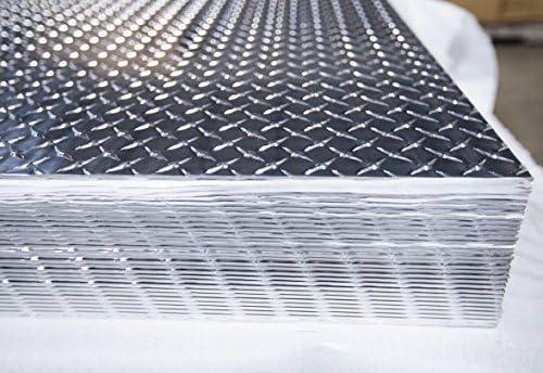 Amazon Com 3003 Aluminum Diamond Plate 0 25 1 4 X 48 X 96 2 Pack Industrial Scientific