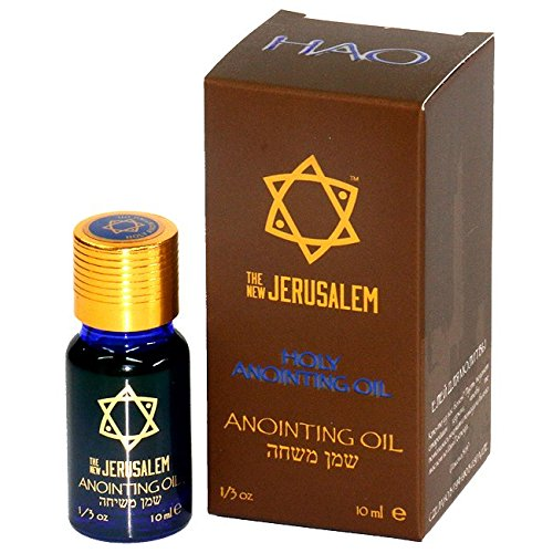 The New JERUSALEM Star of David Myrrh, Cinnamon, Cassia, and Calamus anointing oil from Israel 7.5 ml 1/4 - Land East Mall