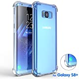 Image of Galaxy S8 Plus Case, Comsoon [Drop Cushion] [Crystal Clear] Soft PC TPU Bumper Slim Protective Case Cover with Raised Bezels for Samsung Galaxy S8 Plus 2017