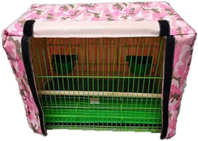 ZZX Funda para Jaula de pájaros Good Night, Cubierta de Malla de ventilación Suave para Mascotas, Jaula de pájaros, Atrapador de Semillas Falda de decoración,Pink Camo,M