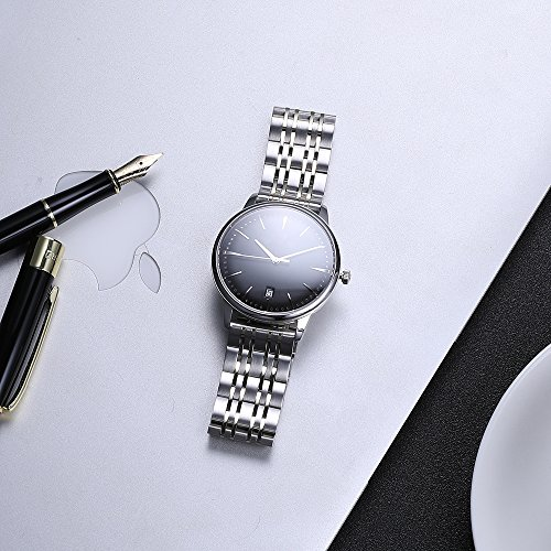 20mm Watch Band Stainless Steel Metal 22mm 20mm 18mm iStrap Replacement Bracelet Strap for Men's Women's Watch Silver by iStrap (Image #9)