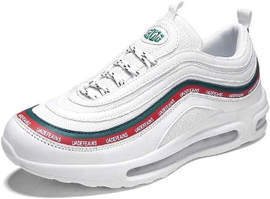 Bath Set Zapatillas de Correr Transpirables Blancas para jóvenes Bala Zapatos Salvajes Casuales Zapatos de Aire Acolchado Deportes de los Hombres Zapatos UK6-UK10, Blanco, EU44UK10: Amazon.es: Zapatos y complementos