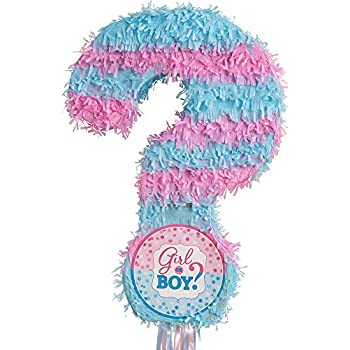 Amazon com: Gender Reveal Baby Shower Pinata, Pull String: Kitchen