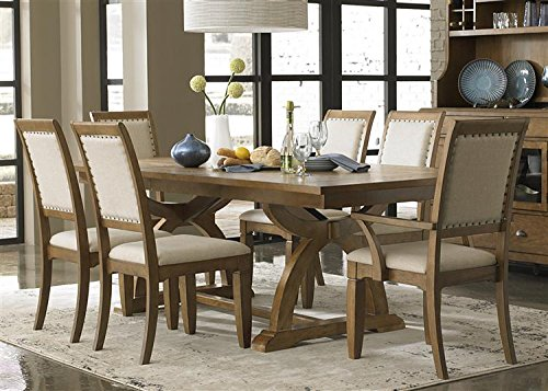 Liberty Town and Country Upholstered Dining Side Chair Set of 2 - 603-C6501S