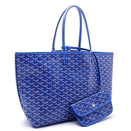 Agote Women Fashion Shipping Shoulder Tote Bag Set (BLUE.), Large
