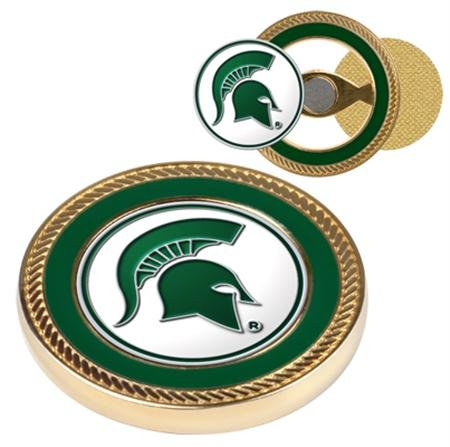 Commemorative Poker Set (Michigan State Spartans MSU NCAA Challenge Coin & Ball Markers)