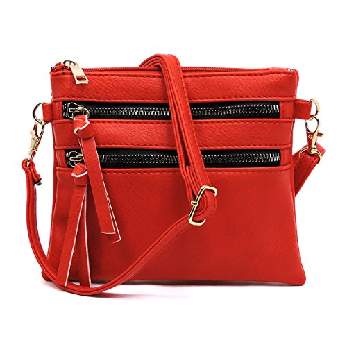 Red Multi Americana Functional Pocket Crossbody Bag qy1UpXw0p