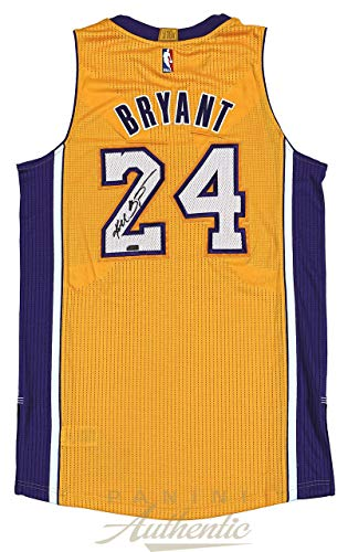 08df936b051 Kobe Bryant Autographed Signed Memorabilia Authentic Gold Adidas Lakers  Jersey Panini