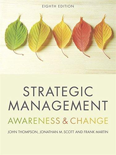 Strategic Management: Awareness and Change ebook