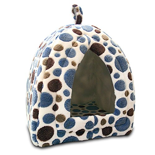 Cozy Cats Pet Tent Bed - Soft and Stylish Polka-Dot House for Cats and Small Dogs (House Cat Plush)
