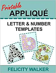 Printable Applique Letter & Number Templates: Alphabet