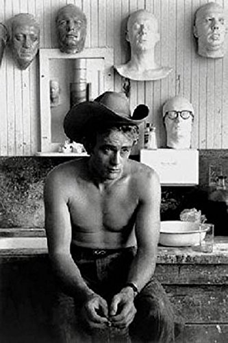 James Dean Topless No Shirt Cowboy Hat 36X24 Print Poster Celebrity Movie Star Icon Hollywood