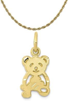 10K Yellow Gold Teddy Bear Charm