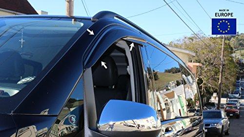 OMAC USA Mercedes METRIS Front Side Door Window AIR RAIN Wind Deflector Guard 2016-2018